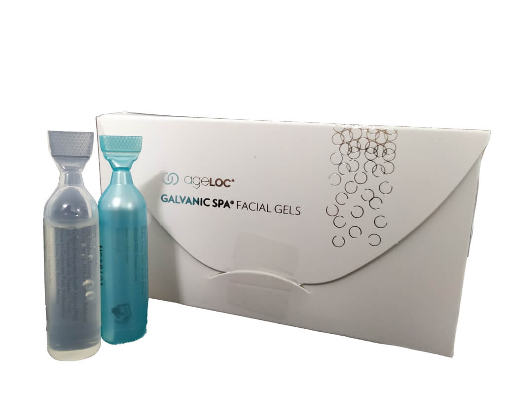 NuSkin Galvanic Spa System Facial Gels with ageLOC Balení 8 x 4 ml