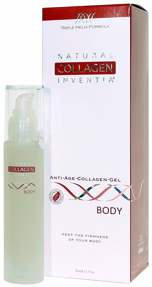 Inventia přírodní kolagen na tělo 50 ml (NATURAL COLLAGEN INVENTIA ANTI-AGE COLLAGEN GEL BODY - Na celulitidu, jizvy, popáleniny, ekzémy a jiné poškození pokožky)