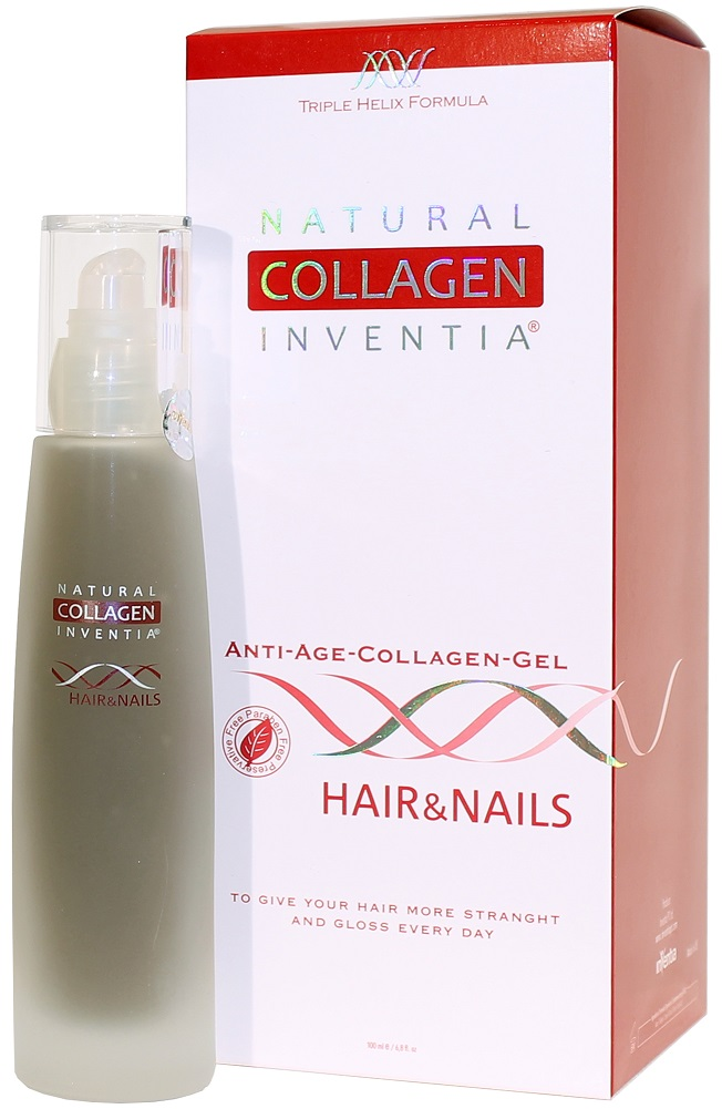 Inventia Hair & Nails na VLASY A NEHTY Triple Helix Formula 100 ml (NATURAL COLLAGEN INVENTIA: A