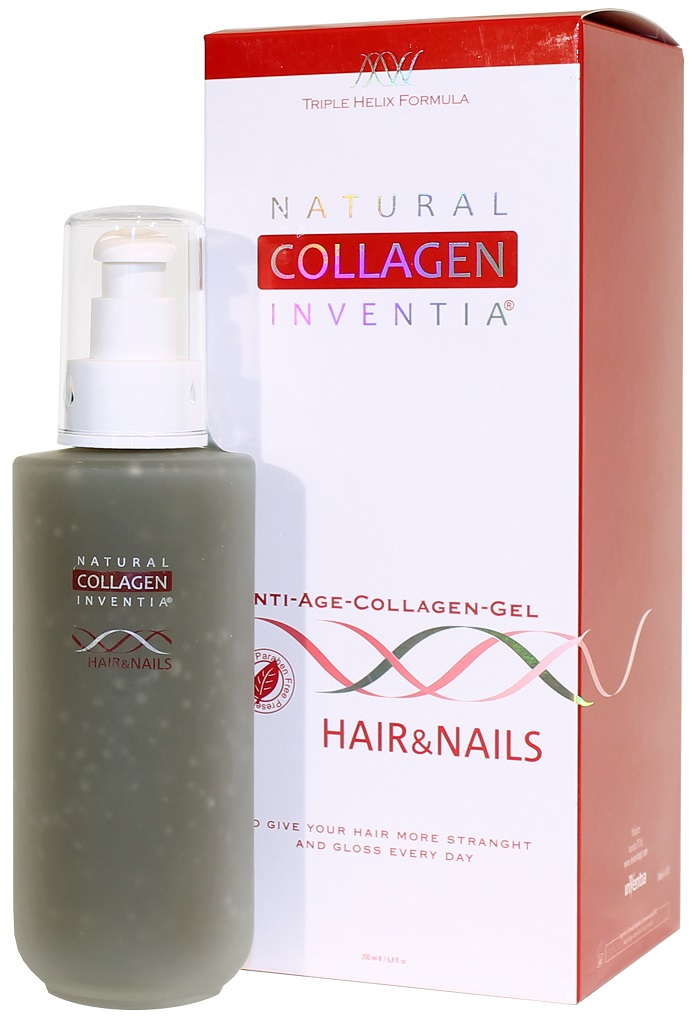 Inventia Hair & Nails na VLASY A NEHTY Triple Helix Formula 200 ml (NATURAL COLLAGEN INVENTIA: A